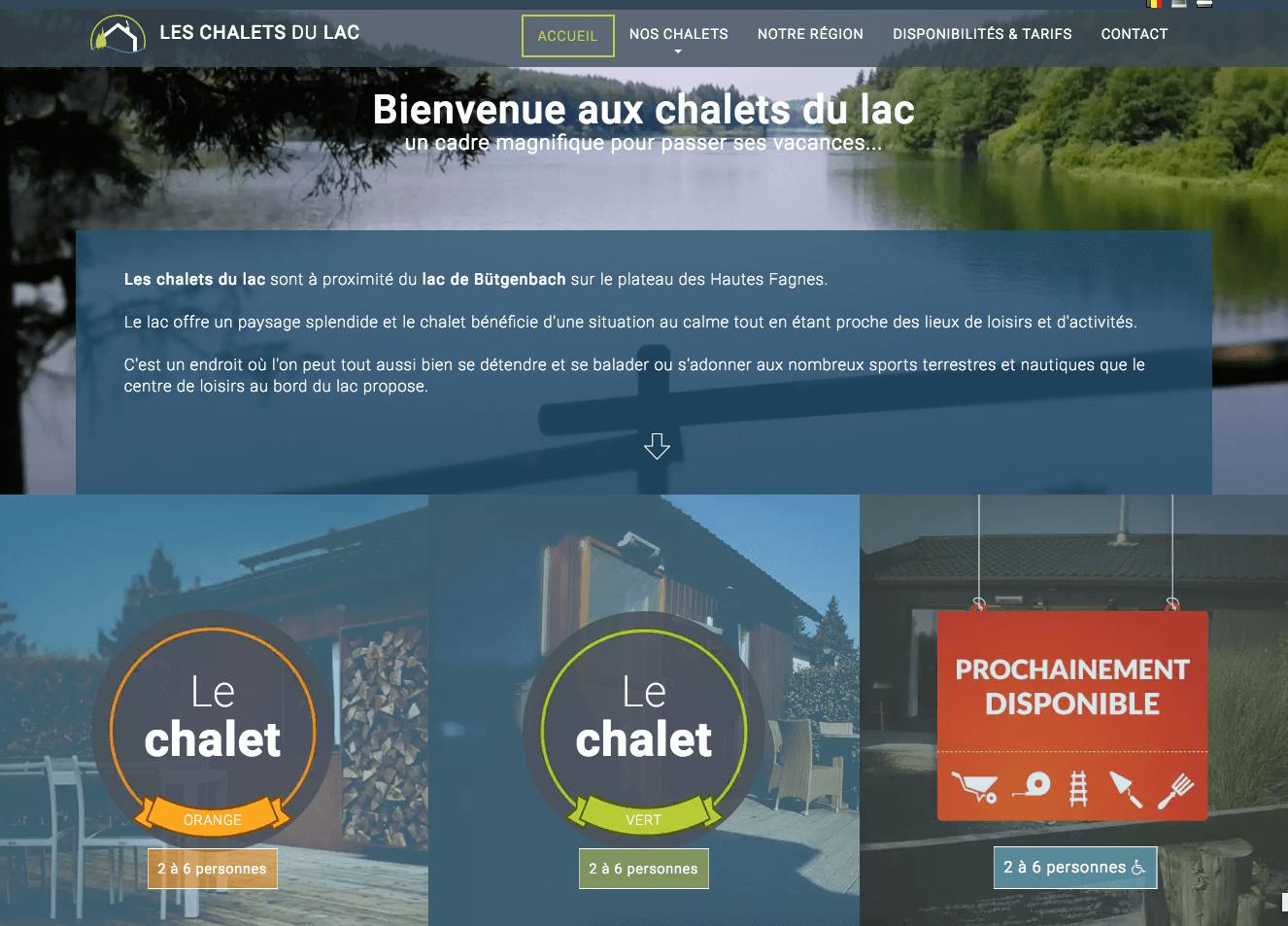 Accueil Les Chalets du Lac
